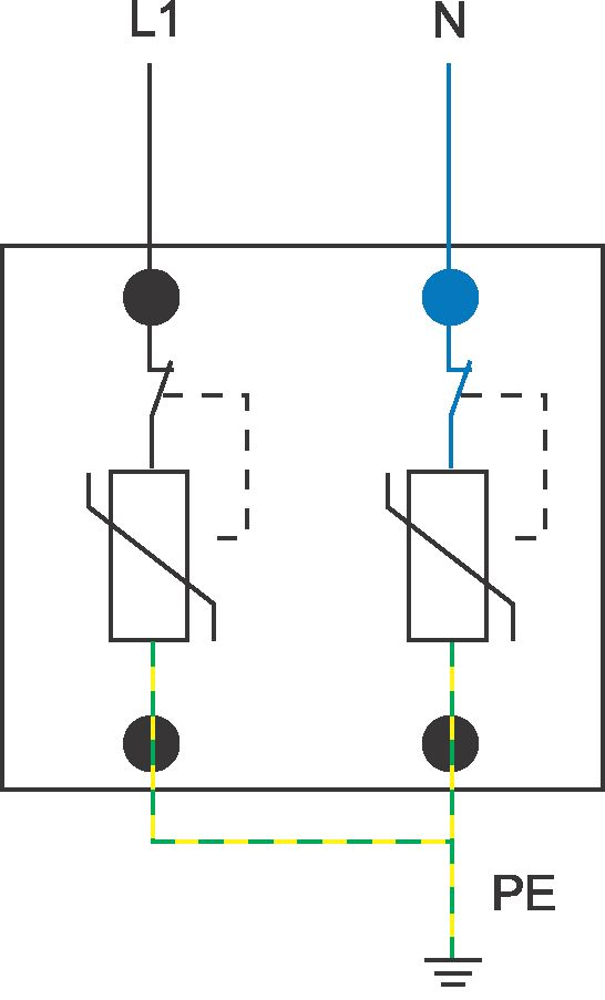 Схема подключения ОПН