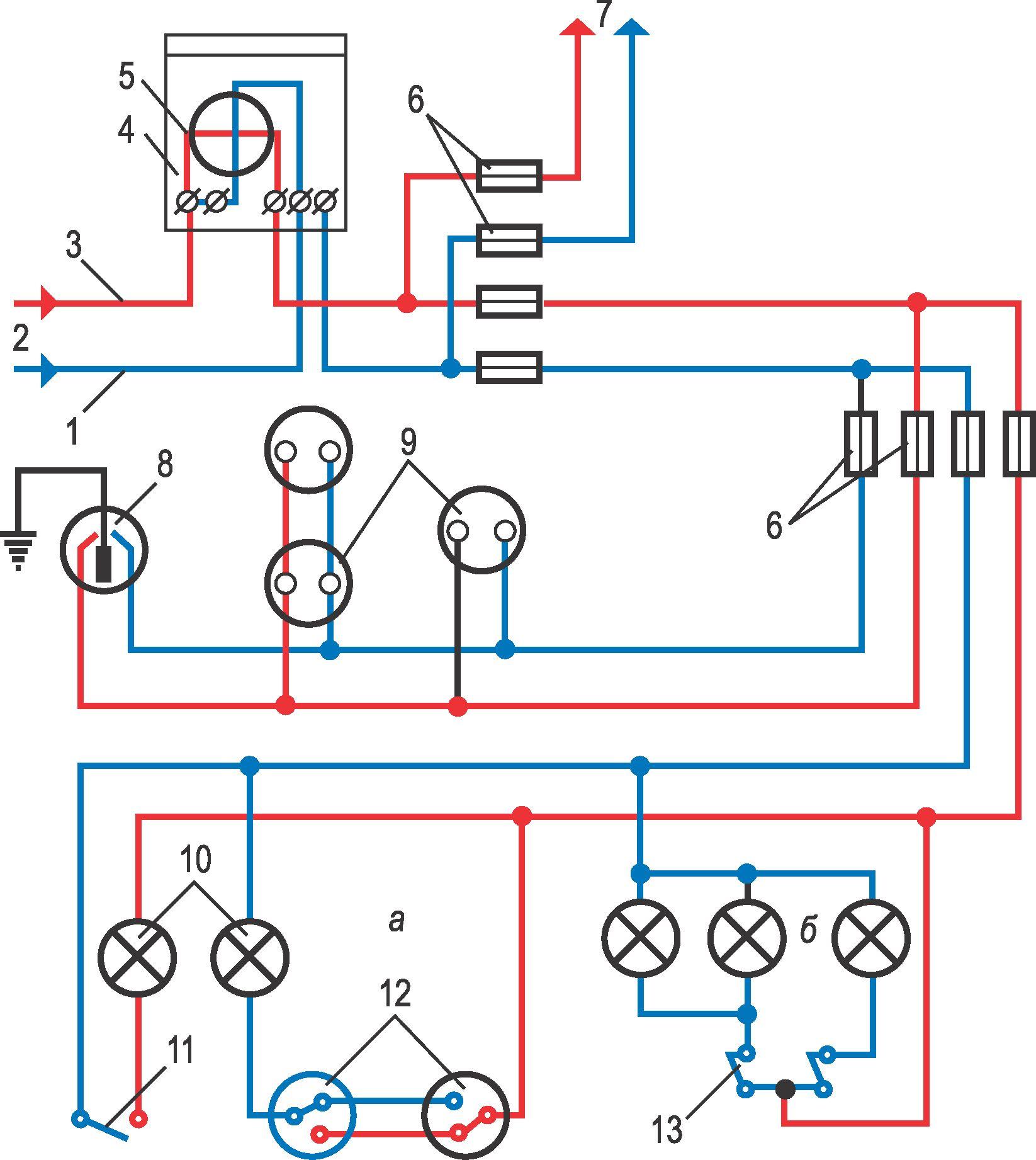 Двухлинейные электрические схемы